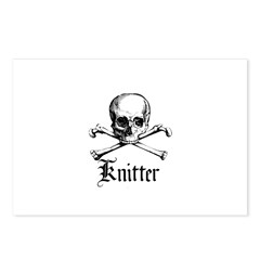 Knitter - Crafty Pirate Skull Postcards (Package o