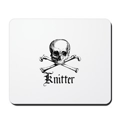 Knitter - Crafty Pirate Skull Mousepad
