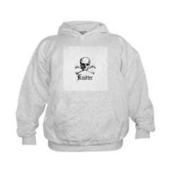 Knitter - Crafty Pirate Skull Kids Hoodie