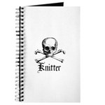 Knitter - Crafty Pirate Skull Journal