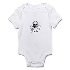 Knitter - Crafty Pirate Skull Infant Bodysuit