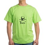Knitter - Crafty Pirate Skull Green T-Shirt