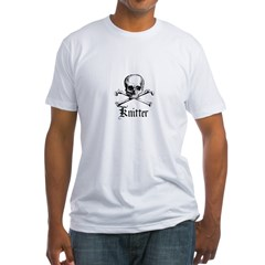 Knitter - Crafty Pirate Skull Fitted T-Shirt
