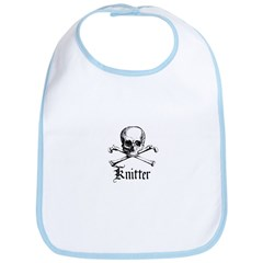 Knitter - Crafty Pirate Skull Bib