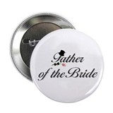 Black Script Father of the Bride Button