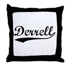 Vintage Derrell (Black) Throw Pillow
