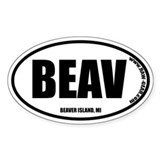 BEAVER ISLAND Oval Decal