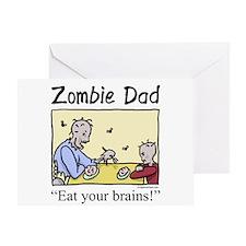 zombiedad Greeting Cards