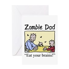 Zombie dad Greeting Card