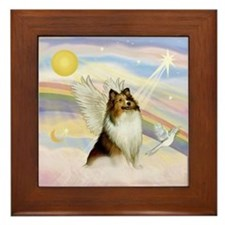 Sable Sheltie Angel Framed Tile