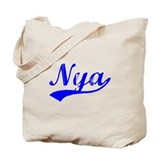 Vintage Nya (Blue) Tote Bag