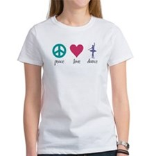 Peace, Love & Dance Tee