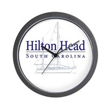Hilton Head Sailboat - Wall Clock