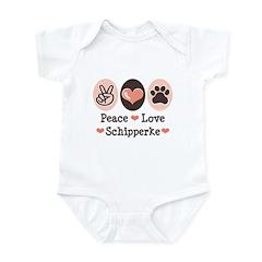 Peace Love Schipperke Infant Bodysuit