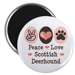Peace Love Scottish Deerhound Magnet