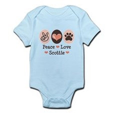 Peace Love Scottie Infant Bodysuit