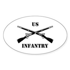 Infantry Branch Insignia (3a) Oval Decal