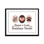 Peace Love Sealyham Terrier Framed Panel Print