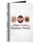 Peace Love Sealyham Terrier Journal