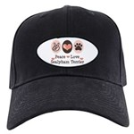 Peace Love Sealyham Terrier Black Cap