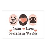 Peace Love Sealyham Terrier Postcards (Package of