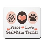 Peace Love Sealyham Terrier Mousepad