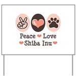 Peace Love Shiba Inu Yard Sign