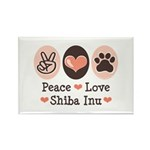 Peace Love Shiba Inu Rectangle Magnet (100 pack)
