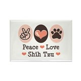 Peace Love Shih Tzu Rectangle Magnet