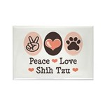 Peace Love Shih Tzu Rectangle Magnet (10 pack)