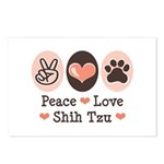 Peace Love Shih Tzu Postcards (Package of 8)