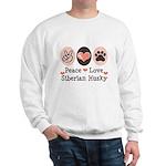 Peace Love Siberian Husky Sweatshirt