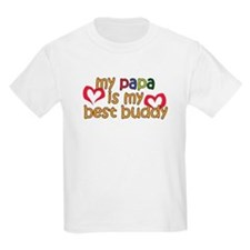Papa is My Best Buddy T-Shirt