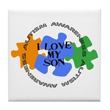 Autism Awrnss - Love Son Tile Coaster