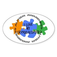 Autism Awrnss - Love Granddghtr Oval Decal