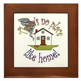 """There's No Place Like Home"" Framed Tile"