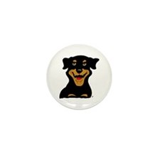 Cute Rottie Puppy Mini Button (100 pack)
