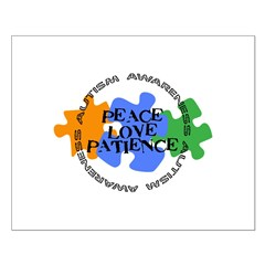 Autism Awareness - Peace Love Patience Posters