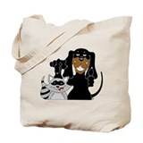 Coonhound and Raccoon Tote Bag