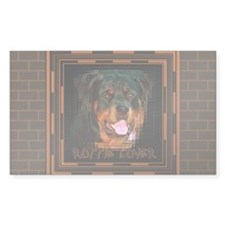 Rottweiler (Rottie) Lover Rectangle Decal
