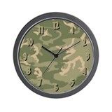 Green Camo Wall Clock
