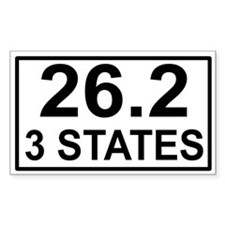 3 Stater Rectangle Decal