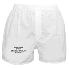 Punjabi Deadly Ninja by Night Boxer Shorts