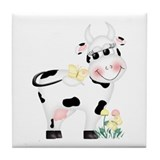 Cute Cow Tile Coaster