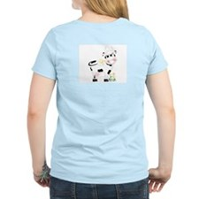 Cute Cow Women's Pink T-Shirt