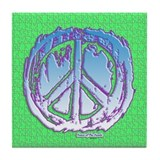 Peace Puzzle Tile Coaster