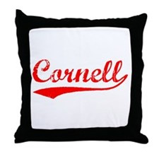 Vintage Cornell (Red) Throw Pillow