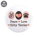 Peace Love Silky Terrier 3.5
