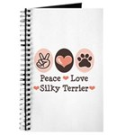 Peace Love Silky Terrier Journal