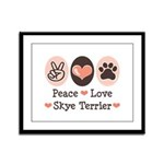 Peace Love Skye Terrier Framed Panel Print